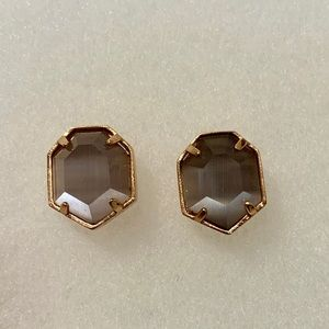 Kendra Scott Rose-gold and Grey Taylor Studs